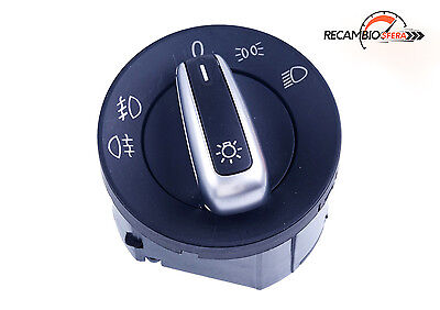 Mando cromado interruptor luces VW GOLF JETTA 5 MK5 6 MK6 PASSAT B6 3C CADDY