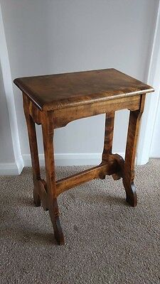 Antique Victorian Oak Church Organ Stool.