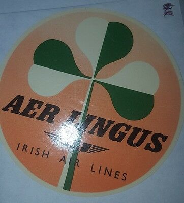 Vintage Aer Lingus Luggage Label #244