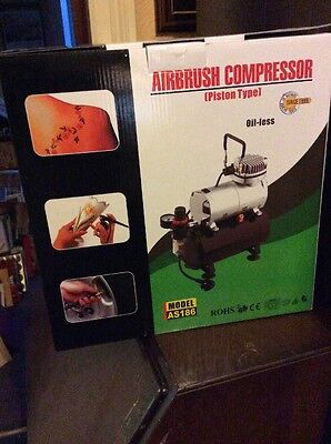 Mini Airbrush Compressor With Tank AS186 (Oil-free)