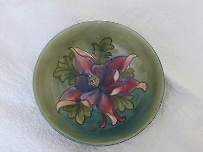 Moorcroft Large Vintage Signed Clematis Bowl 9.5 Inches