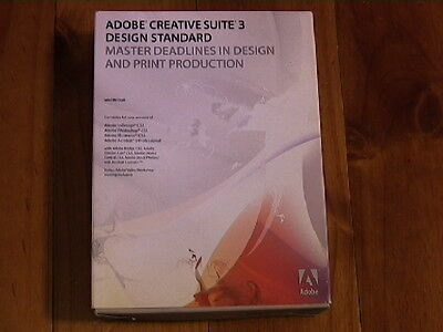 ADOBE CREATIVE SUITE 3 DESIGN STANDARD (boxed/deactivated/)fro MAC INTEL or PPC