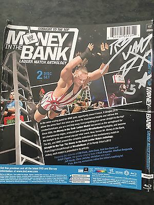 Signed Rvd Money In The Bank Blu Ray Cover
