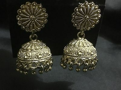Earrings - Indian Style Gold Jewellery Accessories Bollywood Gorgeous Ethnic