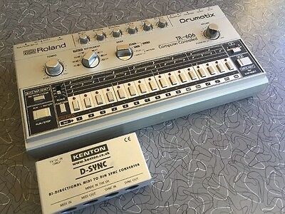 Roland TR-606 Drumatix Analog Drum Machine With Midi Adapter
