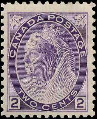 Canada #76 mint F-VF OG NH 1898 Queen Victoria 2c purple Numeral  CV$127.50