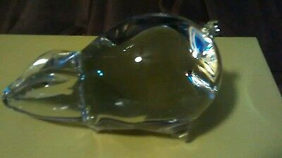 Wedgewood glass pig