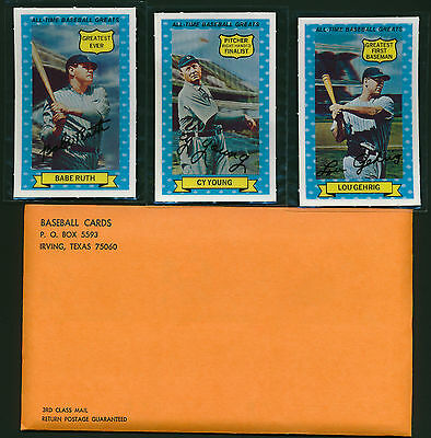 Unopened Mint Set 1970 Rold Gold Kelloggs HOF lot Babe Ruth Cy Young Gehrig RARE