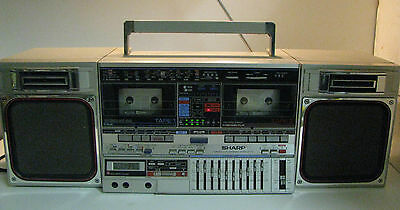 Vintage Retro SHARP GF-800Z BOOMBOX-GHETTOBLASTER buit in equalizer and Time