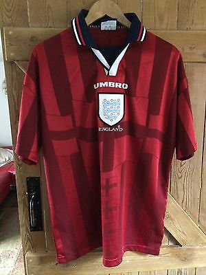 Retro ENGLAND 1997/1999 Away Football Shirt (L) Vintage Soccer Jersey