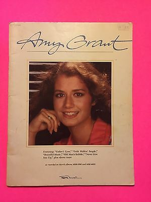 Amy Grant Lyric Tablature Music Book 1980 16 Songs Fathers Eyes Never Give U Up