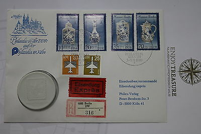 Germany Ddr Philatelia 1989 Coin Cover A63 Cov83