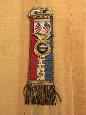 United Mine Workers Of America Miners Union Ribbon Piedmont W VA