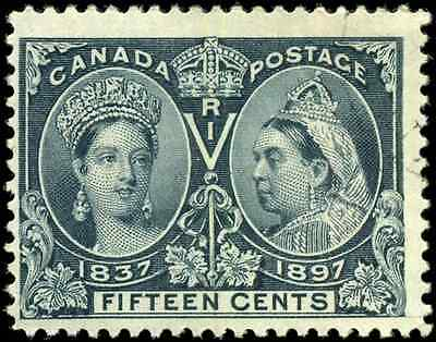 Canada #58 used F 1897 Queen Victoria 15c steel blue Diamond Jubilee CV$120.00