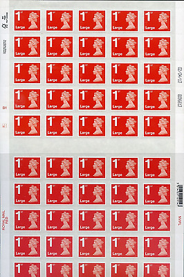 NEW Large Letter Royal Mail First 1st Class Stamps Self Adhesive Stamp Sheet UK