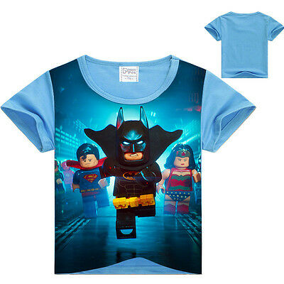 Kids Lego Batman T Shirt Boys Girls Short Sleeve Tops New T Shirts Summer Ninja