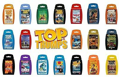 TOP TRUMPS Travel Card Fun Game Various Designs Amazing Cards Holiday