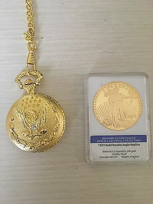 1933 Gold Double Eagle Proof Coin With Pocket Watch