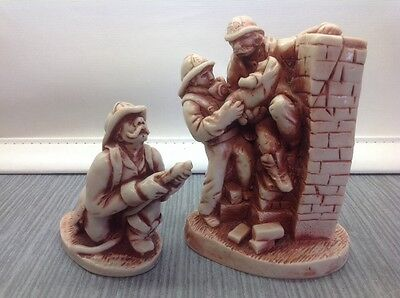 Lot of 2 Georgia Marble Firefighter Rescue Figures Retired Limited Edition IAFF