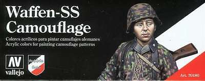 German Waffen SS Camouflage: 8 Paint Set for Model Soldiers (Vallejo 70180)