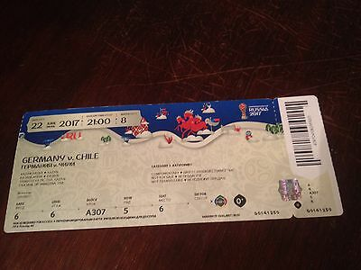 Chile - Germany 22/06/2017 FIFA Confederations Cup used ticket