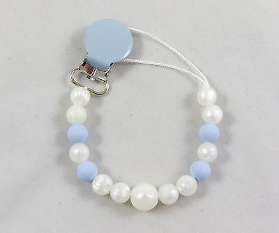 Silicone chewable paci pacifier holder clip teething girls boys unisex neutral