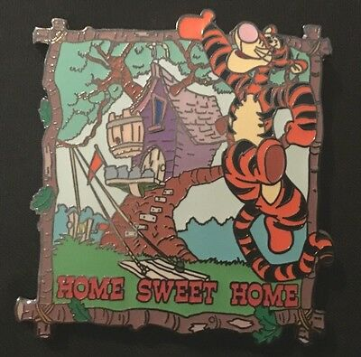 Rare HTF  Disney Auction PINS Limited Edition 500 Tigger Home Sweet Home