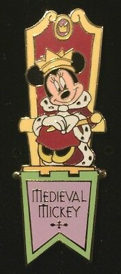 Rare HTF Retired Disney Auction PINS Limited Edition 100 Minnie Mouse Medieval