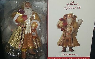 Hallmark Father Christmas 2016 Keepsake Ornaments African-American Santa Claus