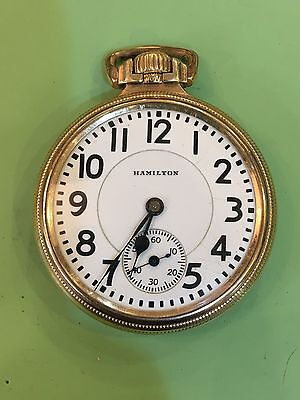 Hamilton 21 jewel 992 Railroad Pocket Watch