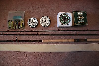 Salmon fly fishing equipment used once