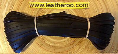 "Kangaroo Lace CHOCOLATE Kangaroo Leather Lace (2.0mm 1/16"" Wdth) 10 meter hank"
