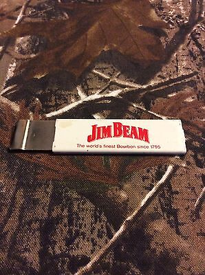 Vintage JIM BEAM Red White Promotional Razor Box Cutter RARE Kentucky Bourbon