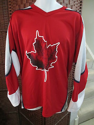 Molson Canadian Beer Hockey Jersey Size XXL Canada Maple Leaf I Am Canadian RED