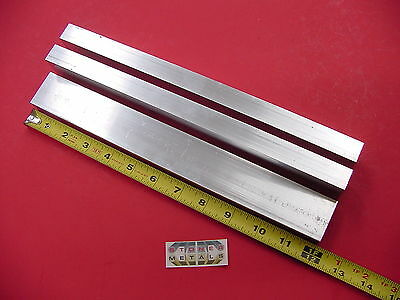 "3 Pieces 3/4""x 1-1/2""x 1/8"" Wall ALUMINUM RECTANGLE TUBE 6063 T52 x 12"" Long"