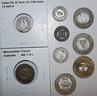 Nice Lot Of Transit Tokens - All Different!!!  #1
