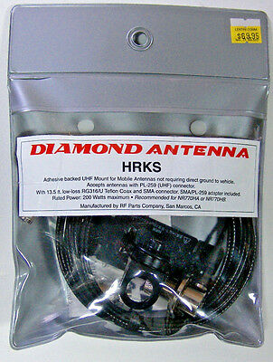 Diamond HRKS Adhesive Mount for Antennas with UHF base  FREE Shipping