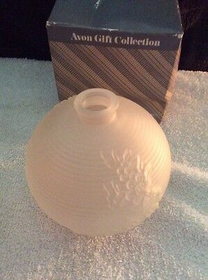 Avon Gift Collection Frosted Bud Vase White New