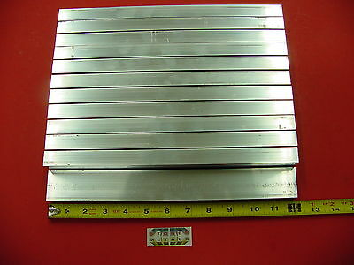 "12 Pieces 3/4""x 1-1/2""x 1/8"" Wall ALUMINUM RECTANGLE TUBE 6063 T52 x 12"" Long"