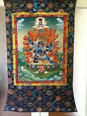 Tibetan Thangka Vajrakilaya and Consort