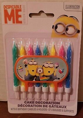 Despicable Me Minions Cake Topper & Birthday Candle Set by Unique New 2016