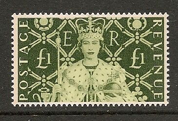 SCARCE 2003 GB. £1 50th ANNIVERSARY OF CORONATION SG2380 2 BANDS. CAT £60 SUPERB