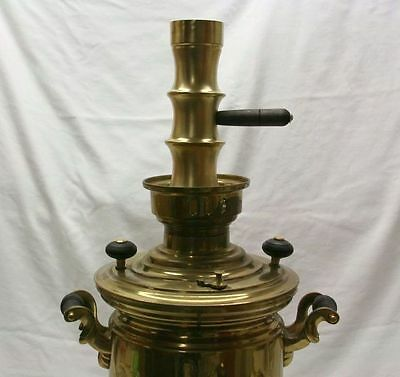 Samovar Brass Extension Chimney With Dark Brown Wooden Handle (120915351)
