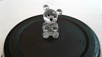 Vintage Swarovski Crystal Teddy Bear Figurine 7637 NR075 Retired *FREE SHIPPING