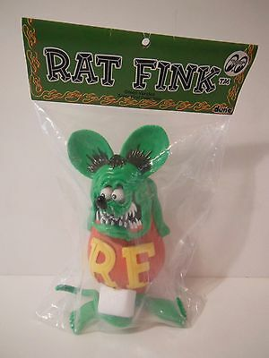 Dune Rat Fink Green Ver. Soft Vinyl Collectible Figure Ed Roth Sofubi Mooneyes