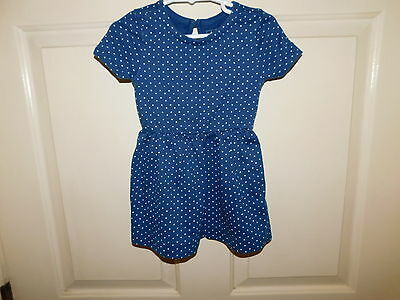 baby Gap Girls Short Sleeve Blue with White Polka-Dots Dress Size 2T