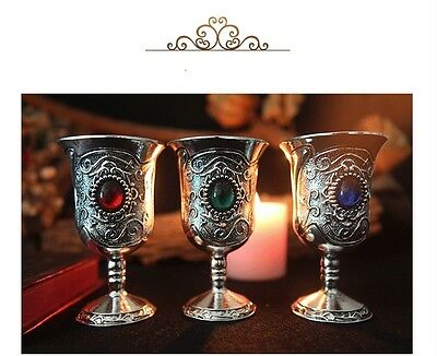 Tarot Water Elemental Chalice Goblet Wicca Altar Pagan Retro Divination Props