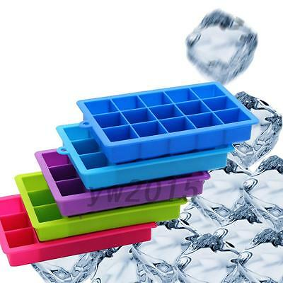 Happy Summer 15 Cavities Silicone Mold Tool Jelly Ice Cubes Tray Pudding Mould