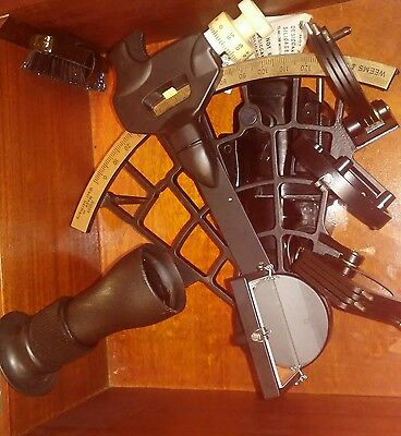 WEEMS & PLATH~SEXTANT  in Wooden Case Maritime Instrument~Micrometer