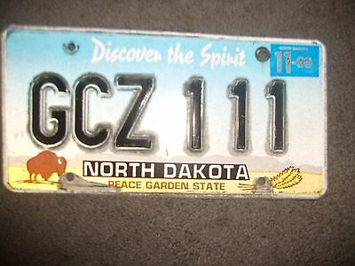 1999 North Dakota License Plate '99 Nd Plate/tag Peace Garden State